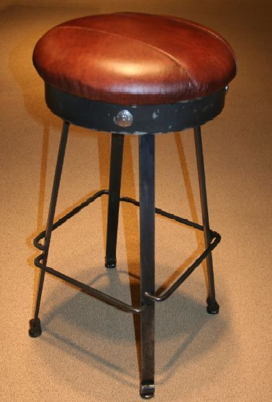 Forged Metal Bar Stool in Western Design | Glen Lake House: Ideas