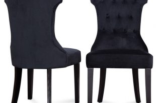 Parsons Elegant Tufted Upholstered Dining Chair, Set of 2