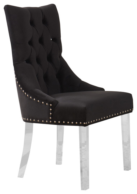 Gobi Tufted Dining Chair - Transitional - Dining Chairs - by HedgeApple