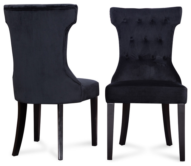 Black Tufted Dining Chair