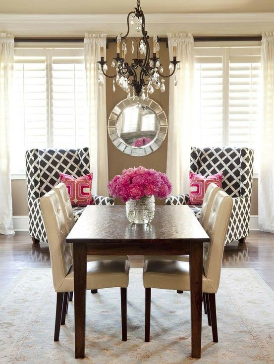 Classic shutters with glam decor | Shutters | Esszimmer, Esszimmer