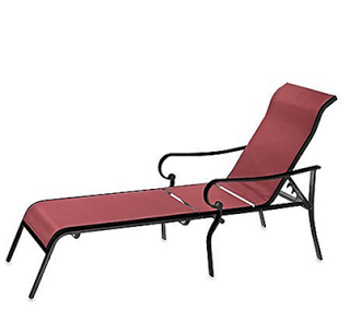 Outdoor Oversized Adjustable Sling Chaise   Cool Outdoor Furniture