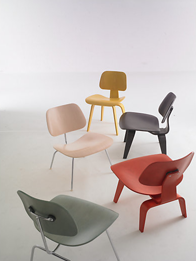 Eames Molded Plywood Chairs designed by Charles and Ray Eames for
