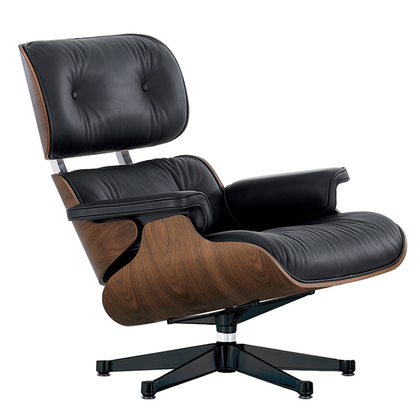 Vitra Eames Lounge Chair, new size, walnut - black leather | Finnish