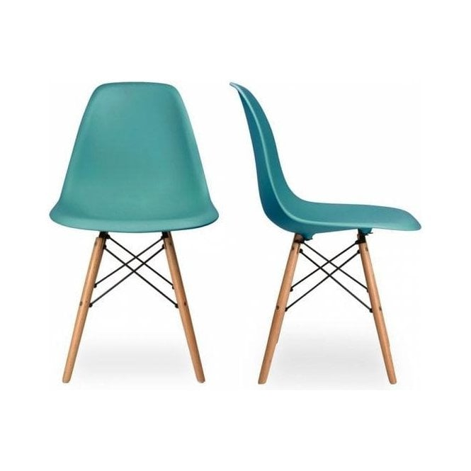 Eames Style Teal DSW Chair | Large Gifts Price:£59 | MyHaus.com