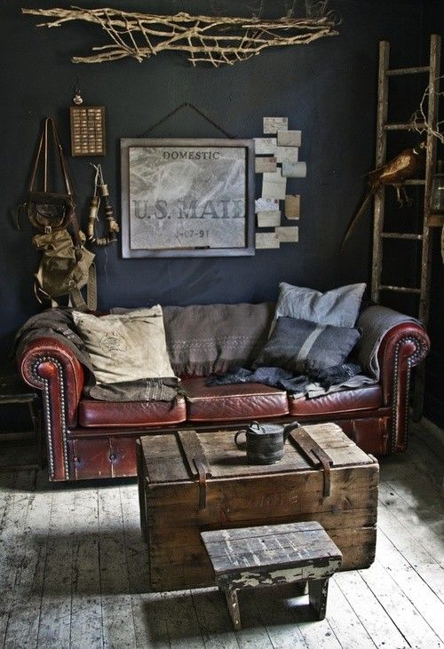 Distressed Leather Sofa | Home Office | Pinterest | Wohnzimmer