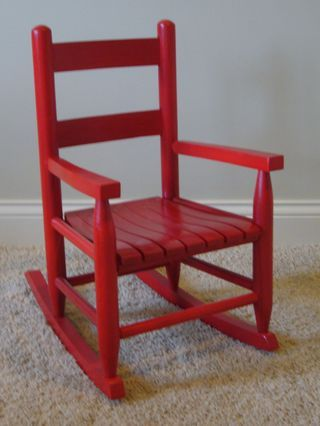 Red childrens rocking chair   Color of the Month: July 2012