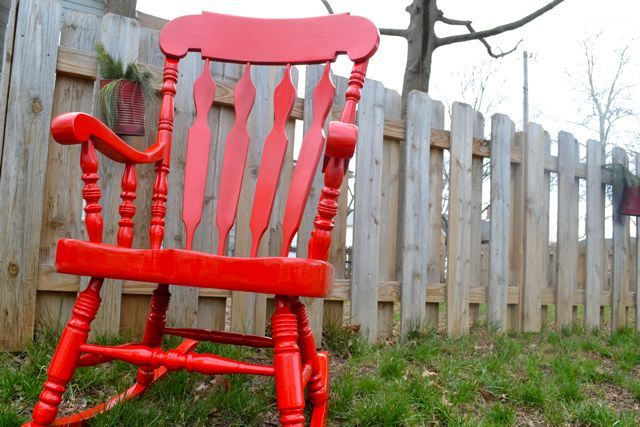 A glossy red rocking chair   decor inspiration   Pinterest   Rocking