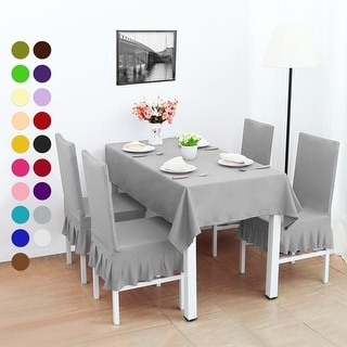 Shop 4Pcs Stretch Dining Room Chair Covers Seat Protector - On Sale