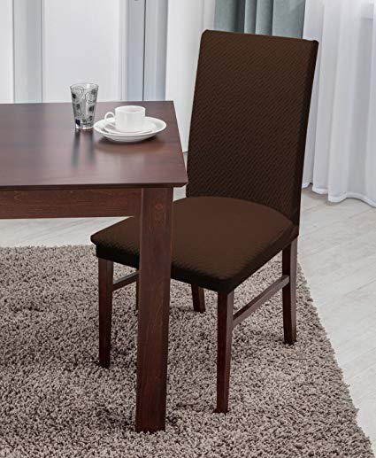Amazon.com: Linen Store Basket Weave Texture Dining Chair Cover