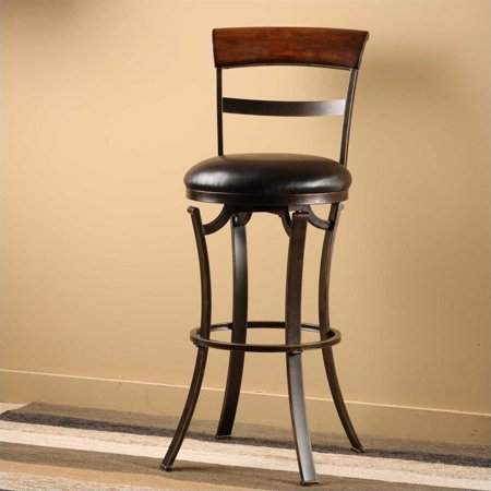 Hillsdale Furniture Kennedy Swivel Counter Height Stool, Black Gold