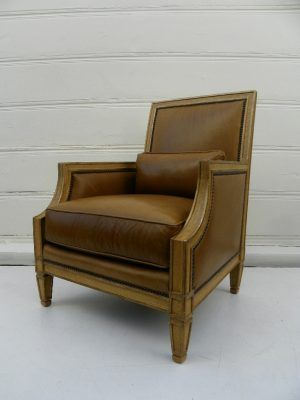 Odeon Hotel Dark Leather Library Chair | Furnishings | Pinterest