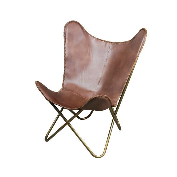 Brown Leather Butterfly Chair | Stühle | Leather butterfly chair