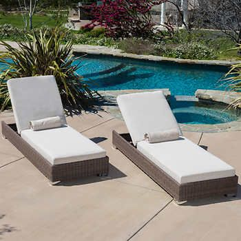 Milano Chaise Lounge 2-pack | Outside