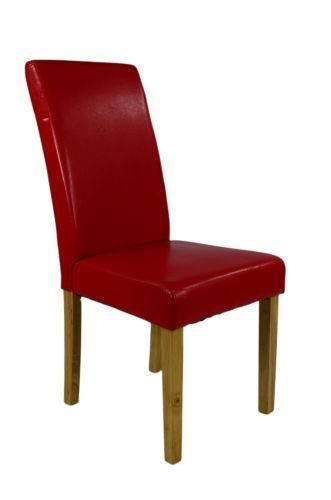 Red Leather Dining Room Chairs | Esszimmerstühle | Leather dining