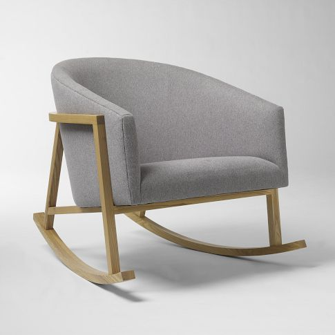 Ryder rocking chair in grey | armchair . Sessel . fauteuil | west