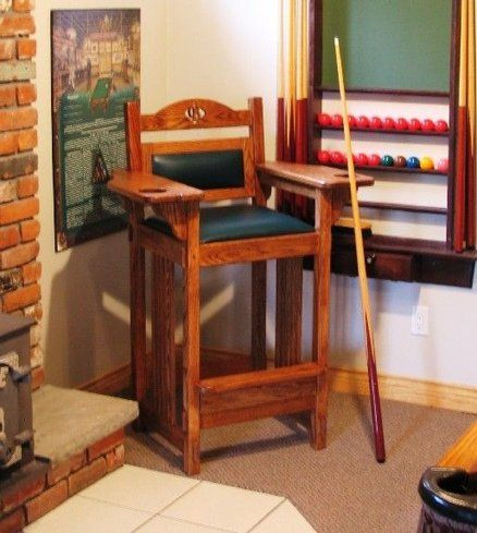 Billiard Spectator Chair   Projects to Try in 2019   Game room