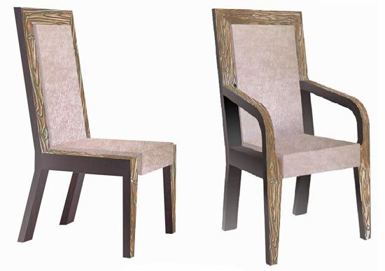Urban Rustic Collection Dining Chair Design #8   For the Home