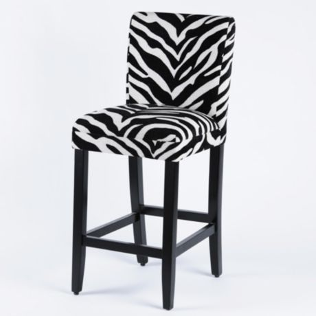 Product Details Zebra Parsons Bar Stool | For the Home | Bar Stools