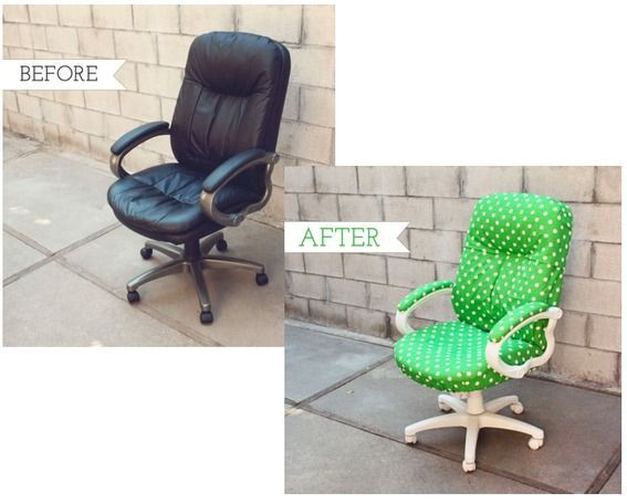 office chair makeover | DIY Chair Makeovers | Pinterest