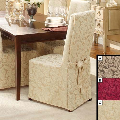 Dining Chair Cover #Stuhlhussen | Stuhlhussen | Chair covers, Dining