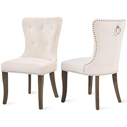 Amazon.com - Dining Chairs Set of 2, Upholstered Accent Chair Button
