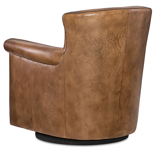 Hooker Furniture Jacob Brown Leather Swivel Club Chair Cc510 Sw 083