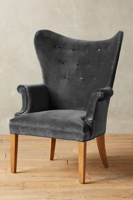 Velvet Wingback Chair..diff color though | Home Is Where The ❤ Is