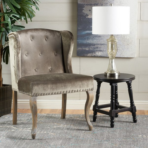 Shop Niclas Velvet Wingback Chair by Christopher Knight Home - On