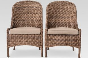 Mayhew 2pk All Weather Wicker Patio Dining Chair - Threshold™ : Target
