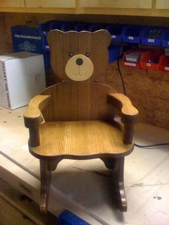 Customer submitted project - Teddy Bear Rocking Chair   kids   Teddy