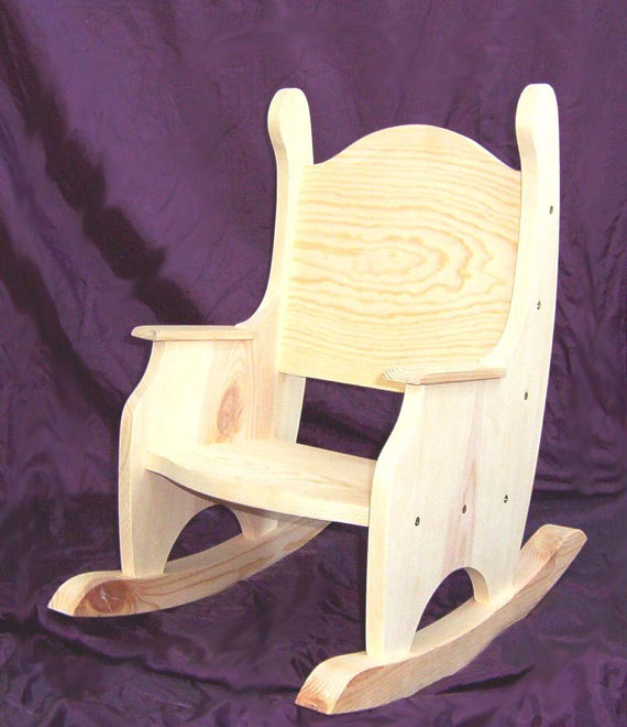 Child's Rocking Chair, Unfinished Pine w/o Hearts   time out chair