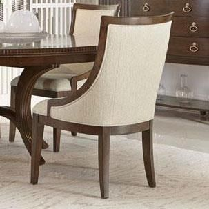 Beverly Glen Dining Chair with Sloped Arms by Bernhardt