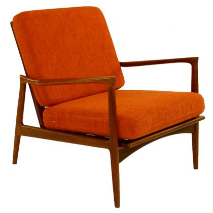 Kofod Larsen Danish Modern Teak Arm / Lounge Chair