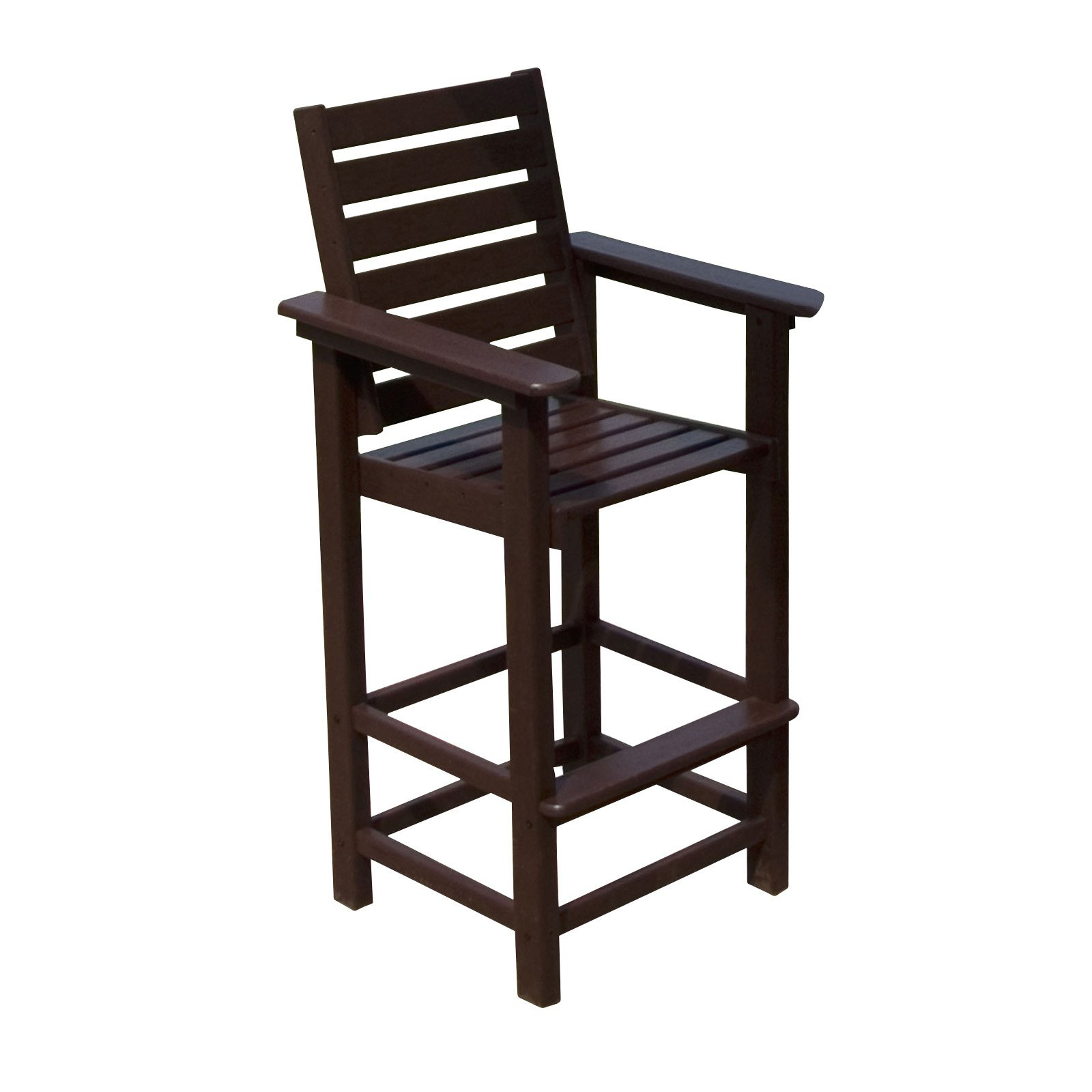 Outdoor POLYWOOD Captain Recycled Plastic Bar Stool White