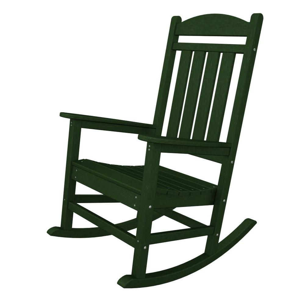 POLYWOOD Presidential White Patio Rocker
