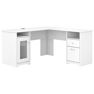 "Bush Furniture Cabot 60 ""L-förmiger Computertisch, weiß (WC31930K."