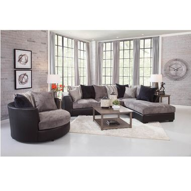 Rent to Own Woodhaven 8-teiliges Jamal Chaise Sofa Sectional Living.