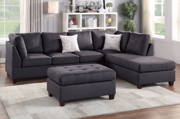 3PCS Sectional (Ottoman Included) - Farboption