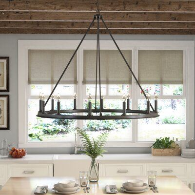 Laurel Foundry Modernes Bauernhaus Shayla 12-Light Candle Style Wagon.