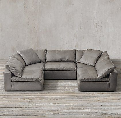 Cloud Cube Modular Leather Sectionals |  Schnittsofa.