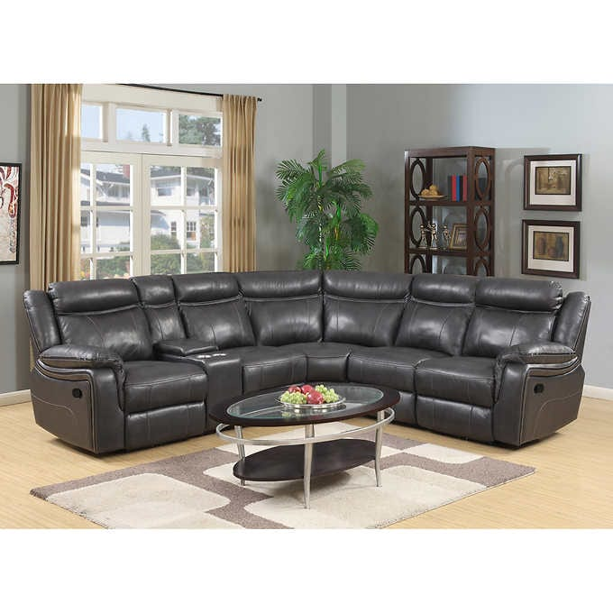 Lindell 6-teiliger Top Grain Leather Reclining Section
