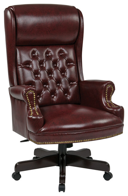 Deluxe Traditioneller Executive Chair mit hoher Rückenlehne - Übergang.