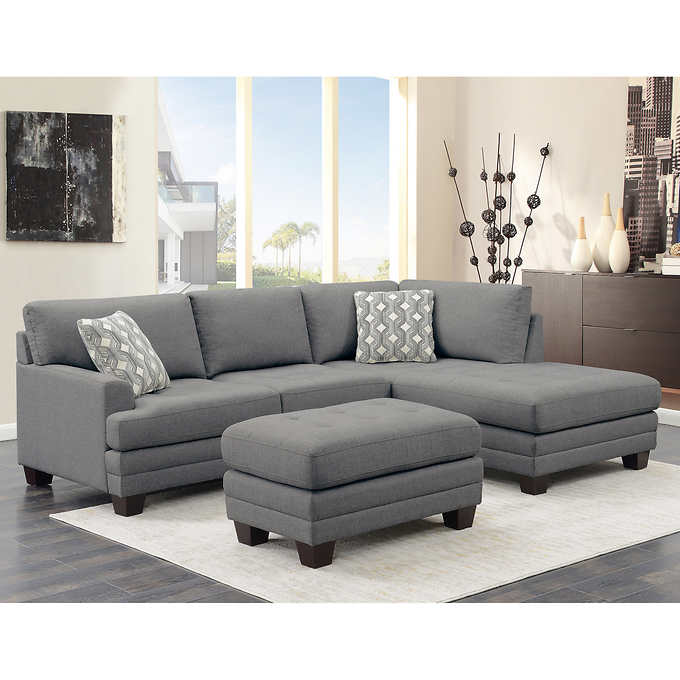 Mitch Fabric Sectional mit Ottom