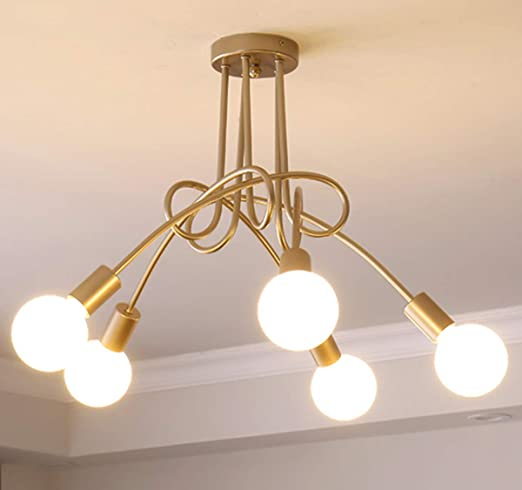 Amazon.com: Ganeed Modern Chandelier, Mid-Century 5 Lights Gold.