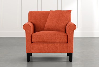 Devon II Orange Sessel |  Lebender Raum