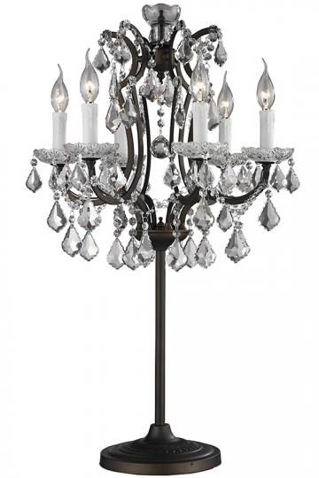 Home Decorators Collection Adreanna 35 Zoll Rustikale Tischlampe.