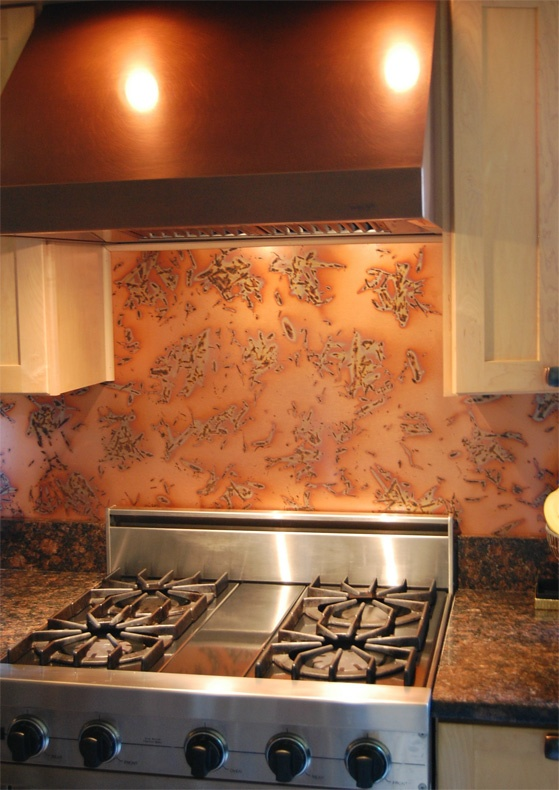 Kupfer Backsplash-Muster