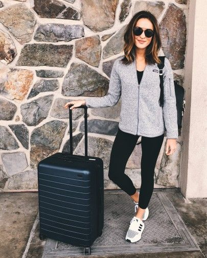 Athleisure bequemes Reise-Outfit |  Bequemes Reise-Outfit, Reisen.