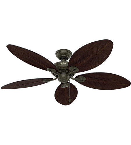 Hunter Fan 54098 Bayview 54 Zoll provenzalisches Gold mit Antik.